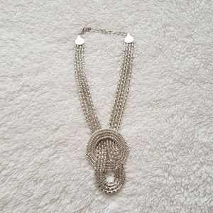 Macy's Silver Loop Necklace